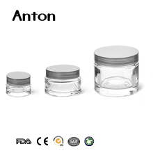 1/4 oz 1 oz and 2.3 oz thick wall glass cosmetic jars