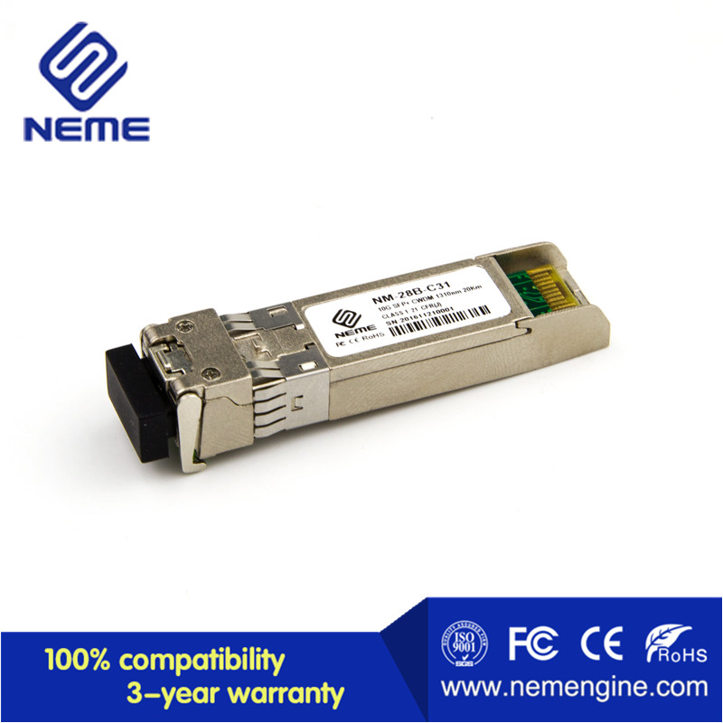 Network Routers 40km 10G CWDM SFP Transceiver Module