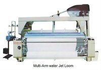 Two-pump Two-nozzle dobby shedding water jet loom