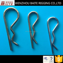 Steel Zinc Plated Industry R type hair pin chain hook metal key ring in best rigging hardware manufacturer