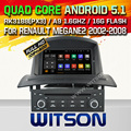 WITSON Android 5.1 CAR DVD GPS For RENAULT MEGANEII 2005-2009 WITH CHIPSET 1080P 16G ROM WIFI 3G INTERNET DVR SUPPORT