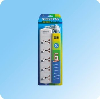 5 outlet power strip with individual switch and overload protection