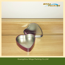 Romantic Tiny heart-shape tin box for wedding gift/chocolate packing