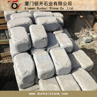 G654 granite tumbled stones,stone cobble