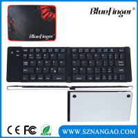 Factory Ultra slim mini wireless portable folding bluetooth keyboard