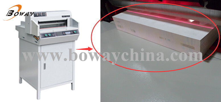 CE ISO Infrared protection Precision<0.5mm Electric BW-450V7 Paper Cutting Machine