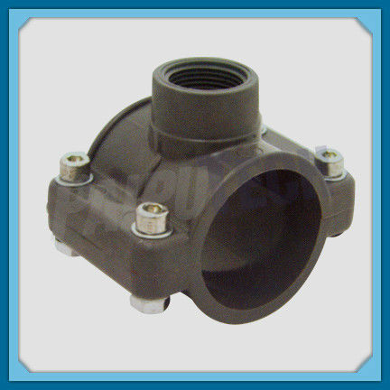 Plastic Pipe Fitting PVC Saddle Clamp for Water Supplying