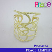 fashion cheap gold plated new design noosa bracelet