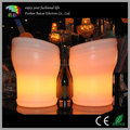 PE plastic luminated wine buckets with rechargeable battery