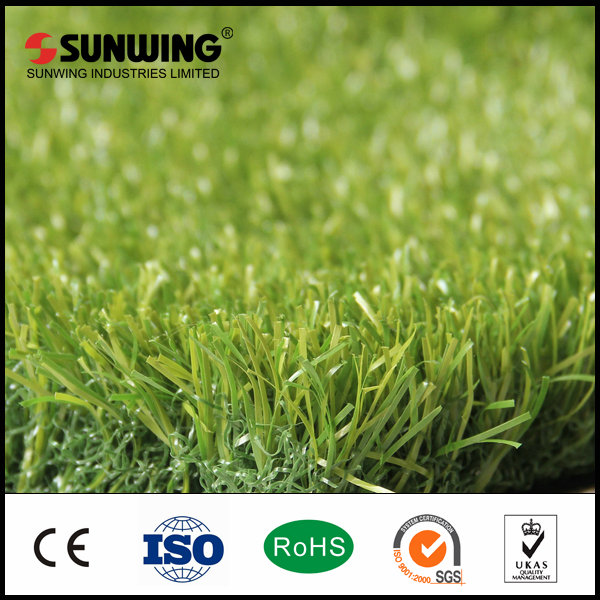 china artificial turf grass landscape with fireproof test