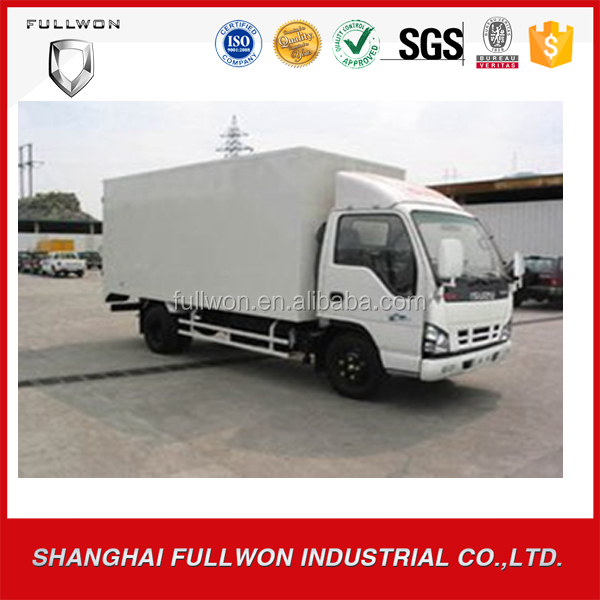 low price Dongfeng 110hp 4*2 Euro2 10t dry dry cargo mini box truck van