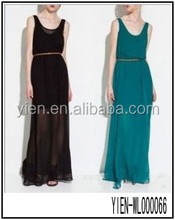 2014 Sleeveless Gauze Dress Chiffon Evening Dresses From Dubai