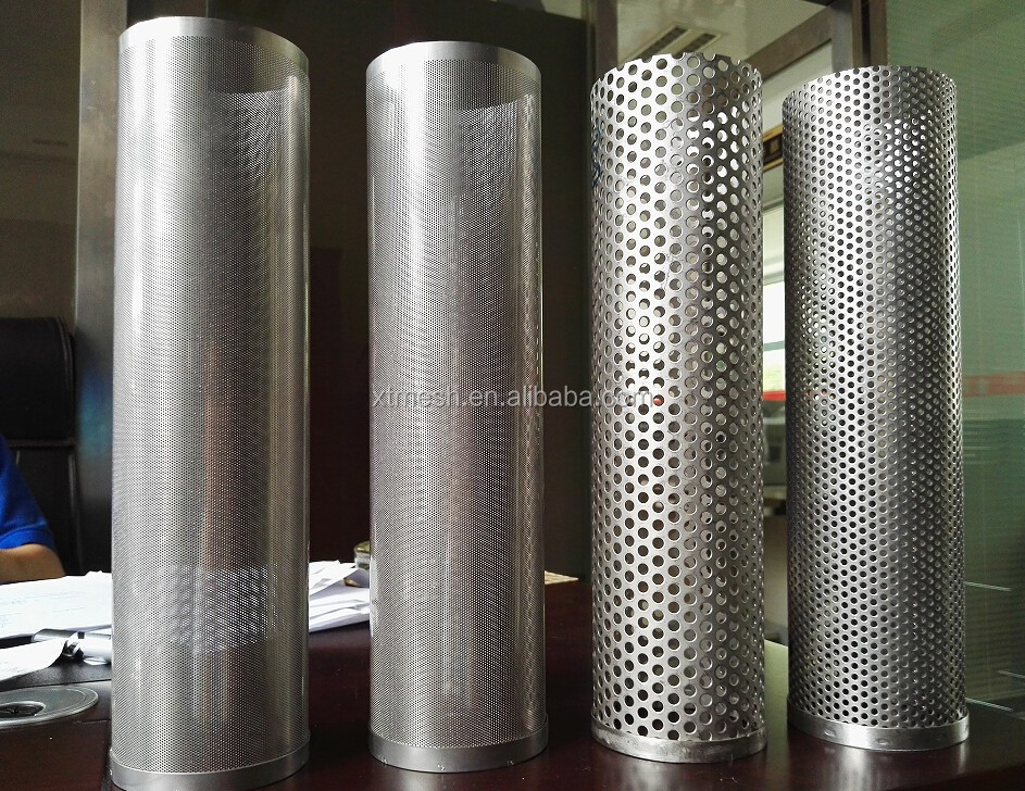 Stainless Steel Exhaust Perforated Tube Perforated