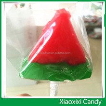 HALAL Sour sweet watermelon shape lollipop with factory price