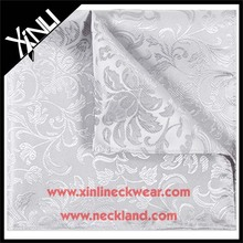 China Factory Mens Jacquard Woven Polyester Embroidery Handkerchief