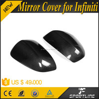Real Carbon Fiber Auto Car Aftermarket Side View Mirrors For Infiniti FX35/FX37 09-13