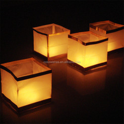 Square Biodegradable Paper Floating Water Lanterns For Party Decoration