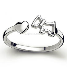Wholesale Cute Pony and Heart Open Design Ring Fashion Trojan Horse Rings for Girls and Female