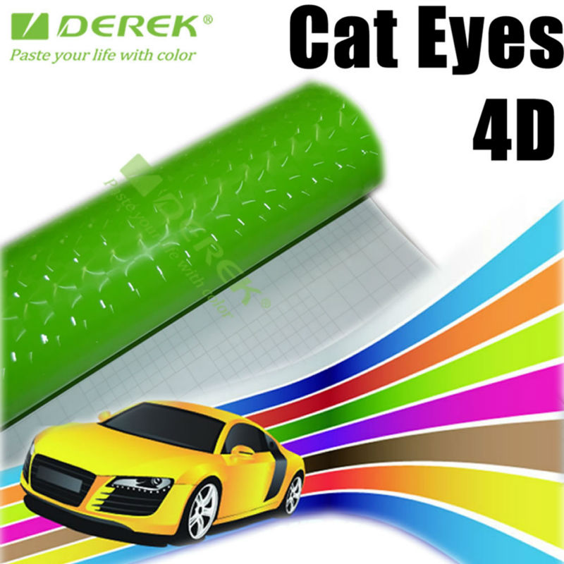 Cat Eye Vinyl Wrap Film with Air Channels 4D Cat Eye Film for Cars