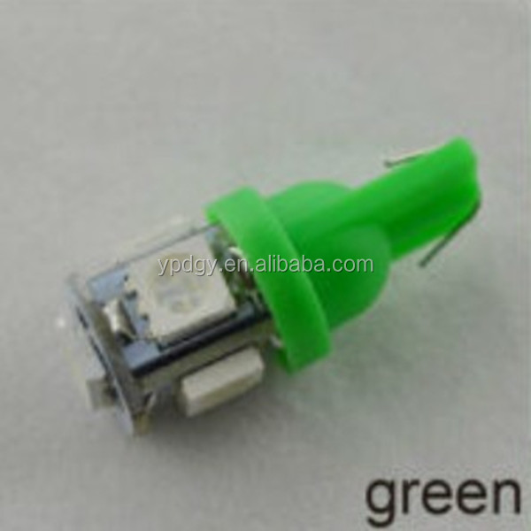 White Red Bule Yellow Green Purple Pink various color for t10 led light car light optional led bulb for any car