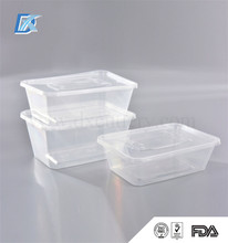 BPA Free 1000ml Microwavable Hermetic Disposable Plastic Square Food Container