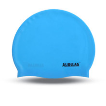 Customized personalized logo and pattern solided color silicone swim cap