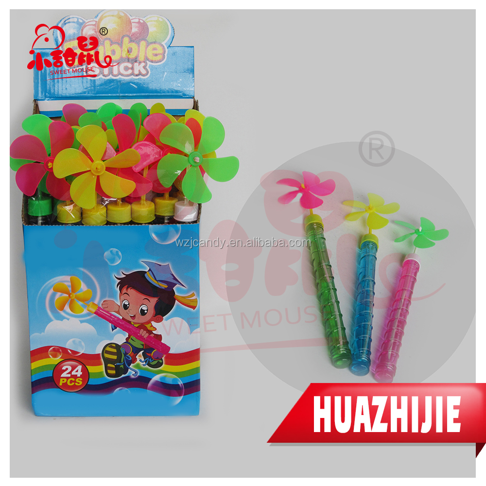 476201610Hot Sale Plastic Windmill Toy Bubble Water Stick