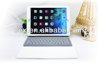 For iPad Air iPad 5 New Arrival Aluminum Bluetooth Wireless Keyboard Case Cover