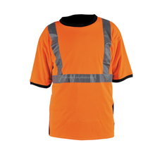Mens' Refelctive safety polo shirt with 100% polyester birdeye mesh Conforms to EN471 Class2,ANSI/ISEA