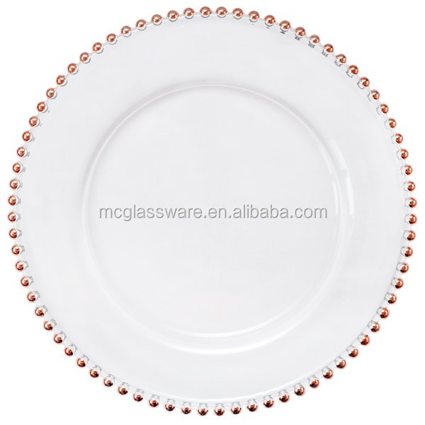 cheap wholesale wedding gold silver glass beaded charger plates buy beaded charger plates gold