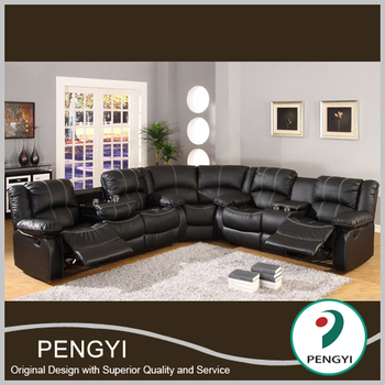 Large size corner leather sofa modern design