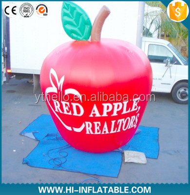HOT sale! New Design giant inflatable apple,inflatable fruit replicas for Advertising