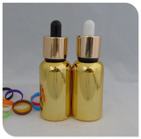 Wholesale 15ml empty glass dropper bottle small bottle gold plating