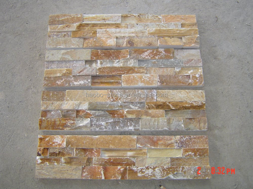 P014 Rusty Yellow Slate Flooring Tiles