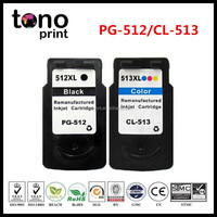 Remanufactured Ink Cartridge PG-512 CL-513 Inkjet Cartridge for Canon