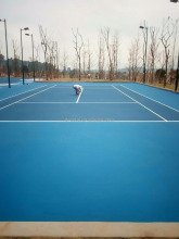 Superior adhesion and color fastness outdoor tennis court paint