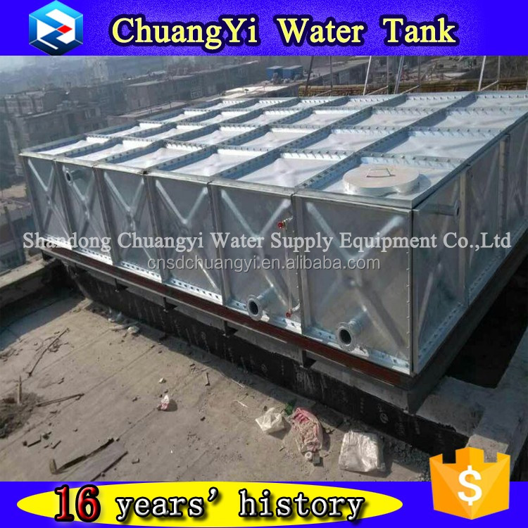 bolts and nuts connection galvanized 200 tons capacity steel water tank/water reservoir