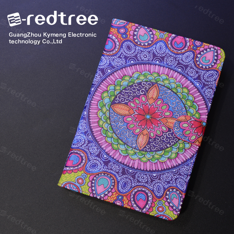 high quality universal pu leather tablet case with printing customized sizes for iphone