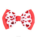 Wholesale 4 Inch Hearts Printed Bow Hair Clip