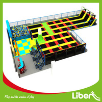 shopping mall Indoor Rent Professional Second hand Safetynet single bungee jumping basketball hoop trampoline