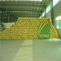 White plastic wrap insulation roll glass wool insulation