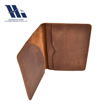 Crazy horse leather travel wallet rfid blocking Passport holder leather