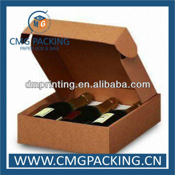 High end paper wine box for three bottles