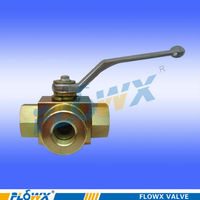carbon steel hydraulic high pressure 3 way ball valve