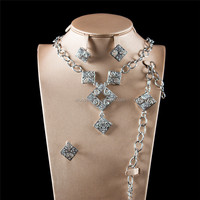 sliver african handmade promotion bridal imitation gidt jewelry sets mooyees factory price popular