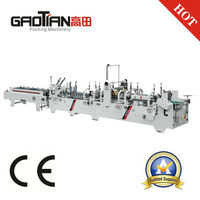 GAOTIAN brand SHH800AG paper box machine / Automatic Carton Folding and Gluing Machine / Automatic pre-fold gluing machine