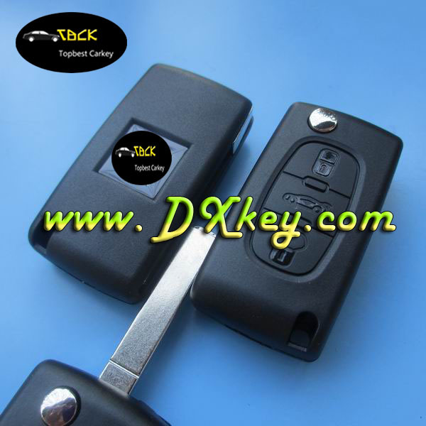Best Price 3 buttons car remote key with trunk button CE0536 434 MHz ID46 Chip for peugeot key peugeot 307 remote key