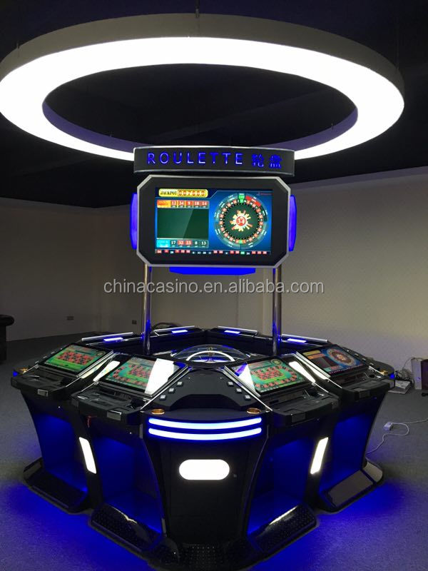 Popular 6/8/12 Players Coin Operated Electronic Casino Roulette Game Software Slot Machine Gambling Machine