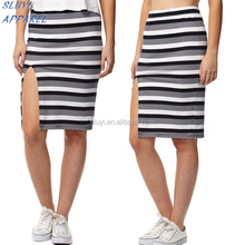 Tight women girls sexy wrap mini skirt pattern girls dancing mini split skirts stripe Wholesale tall skirt
