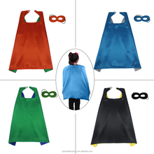 SPECIAL 4 PCS Children Plain Superhero Cape Mask Costumes School Dress-Up Party Game Costume For Kids